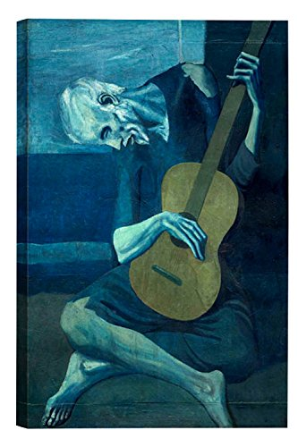 Eliteart-The Old Guitarist by Pablo Picasso Oil Painting Reproduction Giclee Wall Art Canvas Prints