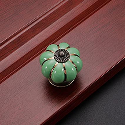 Elegant MIOIM 1pcs Colorful Cabinet Dresser Knobs Pumpkin Form Drawer Door Chrome Cabinet  Knobs Pull Handles For
