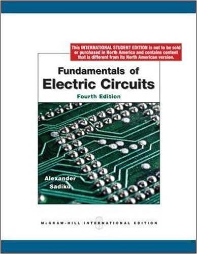 Fundamentals Of Electric Circuits Charles K Alexander