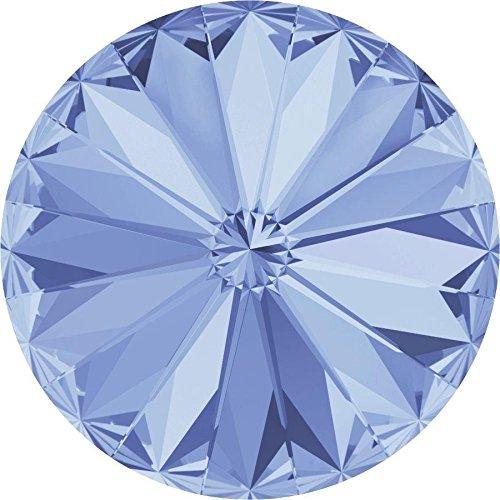 1122 Swarovski Chatons & Round Stones Rivoli Light Sapphire | 12mm - Pack of 144 (Wholesale) | Small & Wholesale Packs