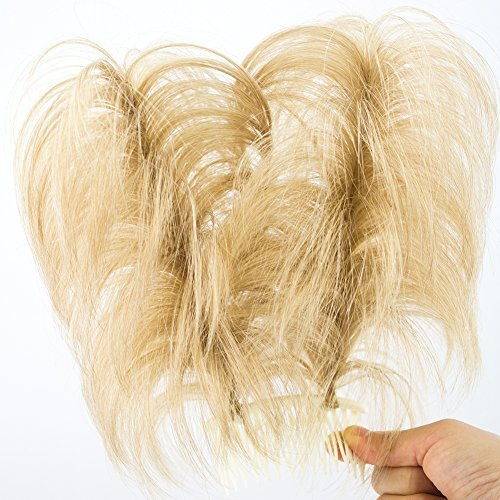 Merrylight Twirl Ups Curly Hair Piece Messy Hair Bun Ponytail Extension (Darker Blonde-227/863)