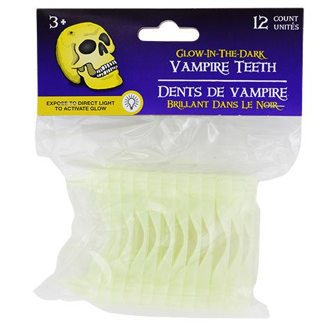 Old Man Costume Walmart - Kids Glow In The Dark Vampire Teeth