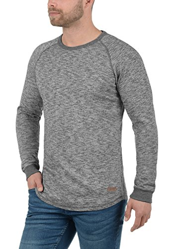 T Dark Encolure Grey Manches shirt À solid Rond 2890 Tom Homme Longues 1zgx5