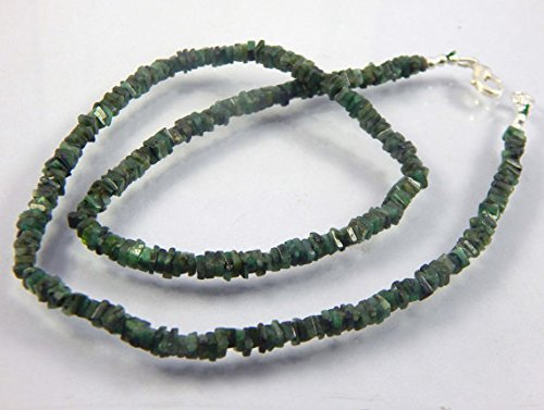 10 Strand AAA+ Quality Natural Emerald Heishi Gemstone Bead 4-5mm Necklace 17.5 '' Strand Christmas sale.BY Natural White Fresh Water Pearl .BY LOVE-KUSH.