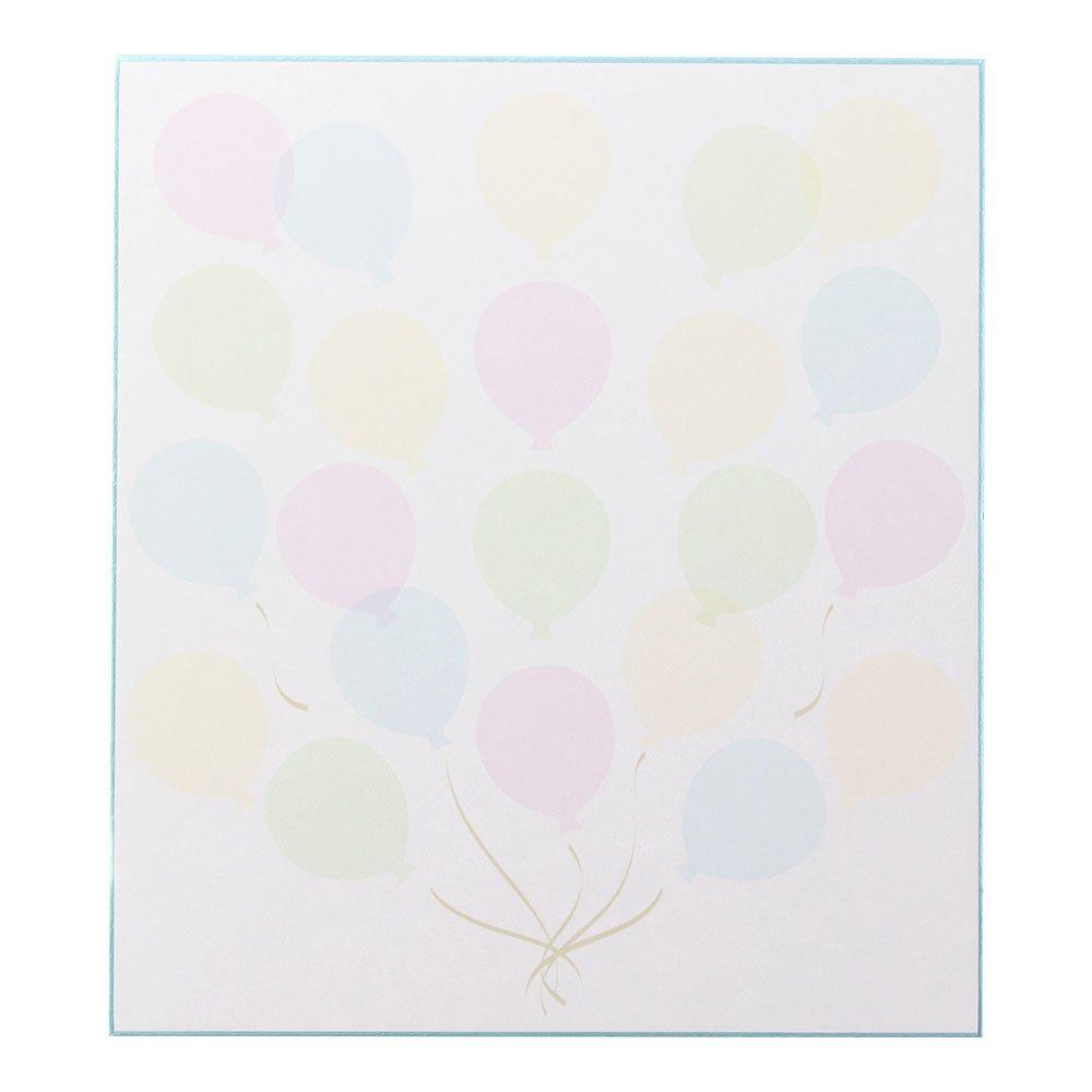 ミドリ 色紙 シール付 カラー色紙 半透明 風船柄 33211006