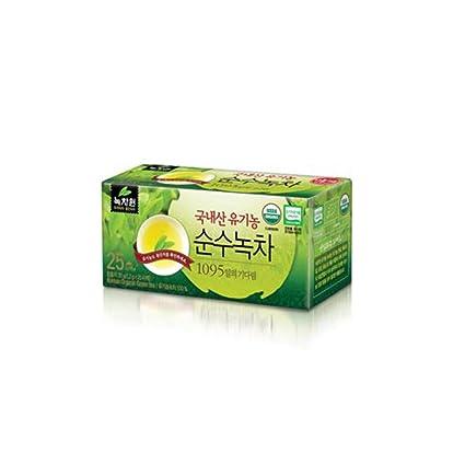 nokchawon] nuevo 25 bolsas de té de té verde orgánico ...