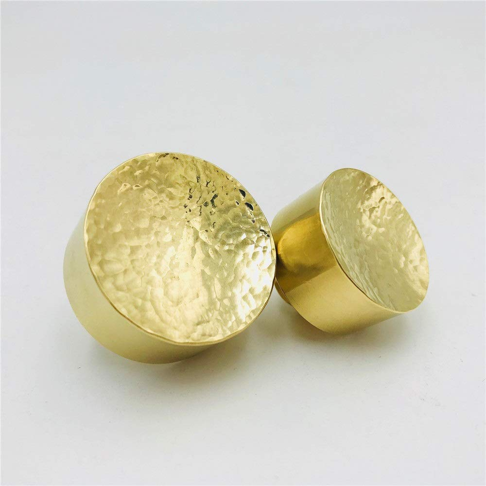 Bishelle-GH Door Pull Handle Stunning Solid Brass Artisan Handmade Cabinet Knobs Drawer Handles Dresser Pulls, Luxury Premium Knobs Handles Hardware, Pack of 2 (Color : Golden, Size : 3525mm)