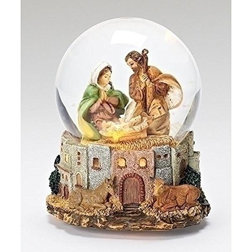 『3年保証』 Fontanini Holy Family LED LED Italian Musical Fontanini Glass Holy Glitterdome 120mm Snow Globe New B00V3LQ2HU, グリーンパックス館:e292d27a --- irlandskayaliteratura.org