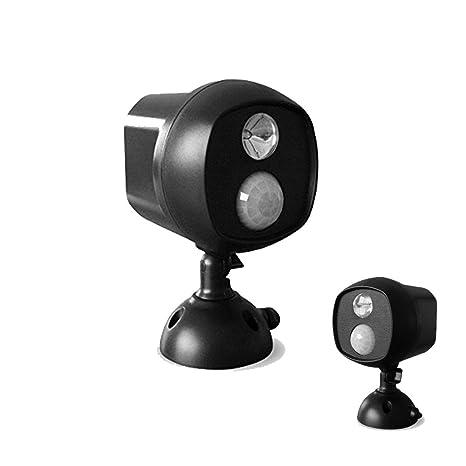 Foco LED inalámbrico con sensor de movimiento y fotocélula - Impermeable - Funciona con pilas -
