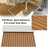 EVA Foam Faux Teak Sheet Boat Yacht Synthetic Teak Decking (35''x94''x0.24'')