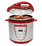 Big Boss 9623 Fully Automatic Pressure Cooker, Red, 6.3 Quart