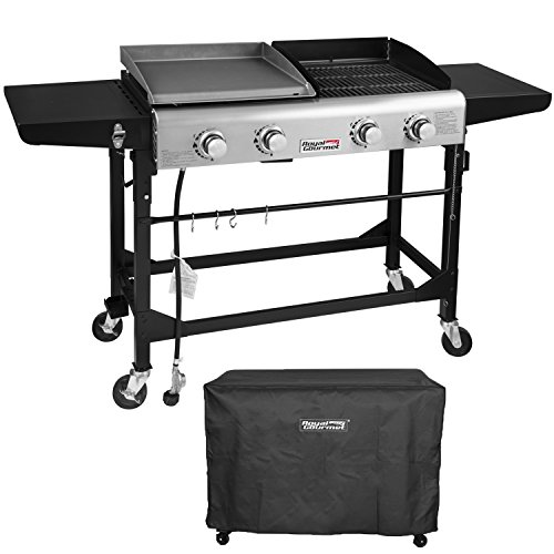 royal gourmet portable propane gas grill and griddle combo 4 burner griddle flat top folding. Black Bedroom Furniture Sets. Home Design Ideas