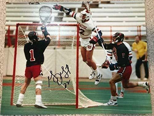 GARY GAIT HAND SIGNED 11x14 PHOTO+COA AIR GAIT SYRACUSE LACROSSE LEGEND - Autographed Sports -