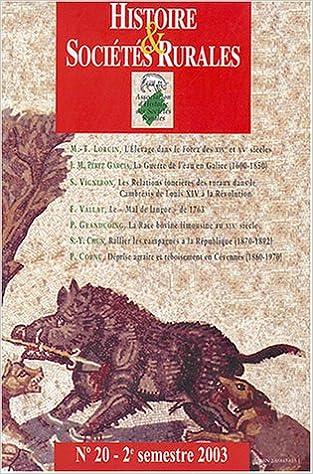 Livres Histoire & Sociétés Rurales, N° 20 - 2e semestre : pdf