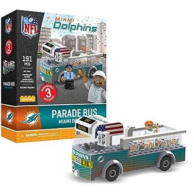 Miami Dolphins OYO Sports Toys Parade Bus Set with 3 Minifigure 191PCS