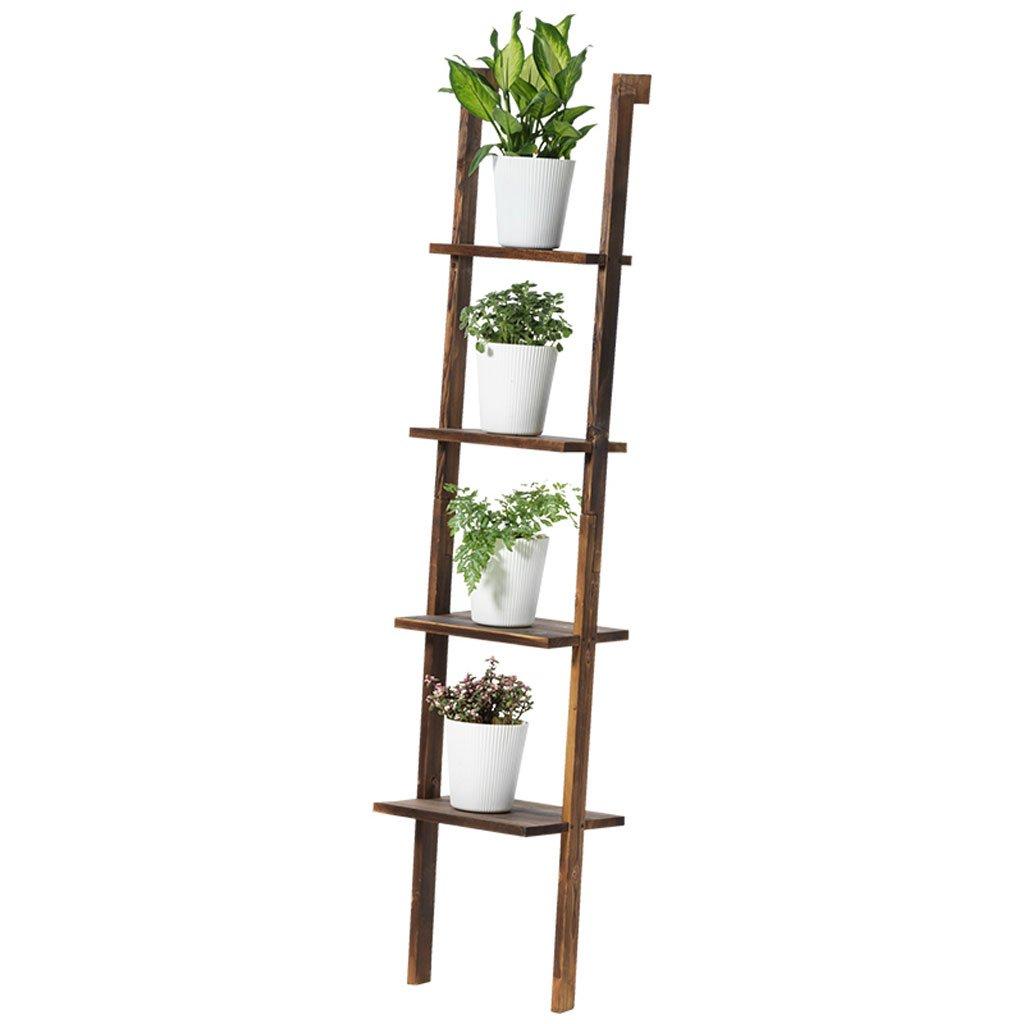 CHX Stand di fiori in legno massello con portafiori per piante da fiore (colore   Charcoal colore, dimensioni   L35CMH160CM)
