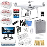 #3: DJI Phantom 4 PRO PLUS (PRO+) Drone Quadcopter (Remote W/ Integrated Touch Screen Display) Bundle Kit with 3 Batteries, 4K Professional Camera Gimbal and MUST HAVE Accessories