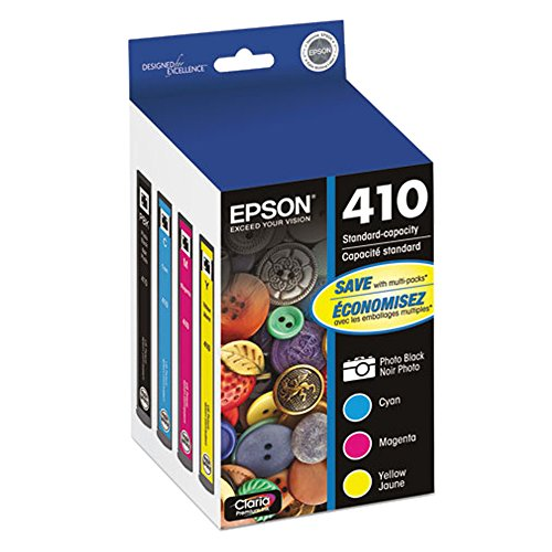 Price comparison product image Epson T410520 (410) Ink Cartridge,  Photo Black / Cyan / Magenta / Yellow,  4 / PK