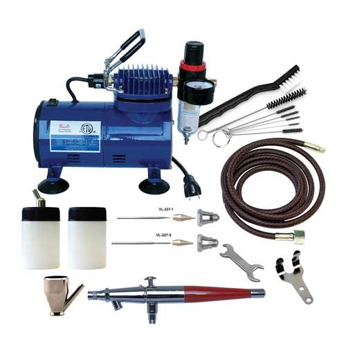 Paasche VL-100D Double Action Airbrush & Compressor Package