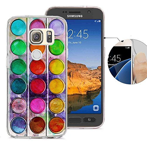 Viewll Compatible with Samsung S7 Active Case, Galaxy S7 Active Case, Viwell Design Pattern Case, High Impact Protective Case for Samsung Galaxy S7 Active Case Colorful Palette]()
