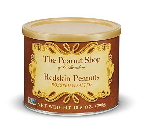 The Peanut Shop of Williamsburg Redskin Peanuts, Roasted & Salted, 10.5 Ounce