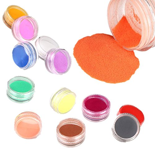 Nail Art,Putars Hot New 12 Colors Acrylic Carving Powder Dust UV Gel Design 3D Tips Decoration Manicure Nail -