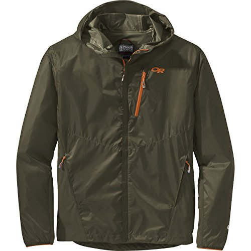 Outdoor Research Men's helium hybrid hooded Jacket, Fatigue, Large by Outdoor Research