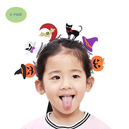 Halloween Dance Dress, child stereo cards, bats, pumpkins, skull, headwear, holiday gifts ()