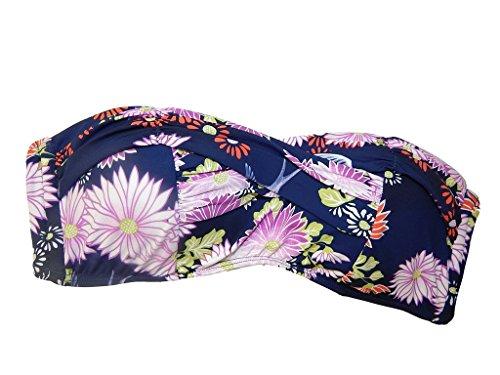 Seafolly Women's Songbird Bandeau Bikini Top, Indigo, 8