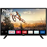 "Smart TV LED 32"" Philco PTV32G50SN HD com Conversor Digital 2 HDMI 1 USB Wi-Fi Áudio Dolby Preta"