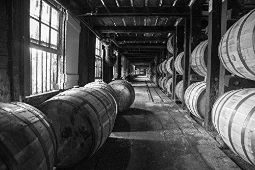 Bourbon Barrel Fine Art Print | Wild Turkey | Whiskey Canvas | Bourbon Whiskey Print | Bourbon Warehouse | Man Cave Decor | Pub Decor | Kentucky Bourbon | Bar - Turkey Whiskey
