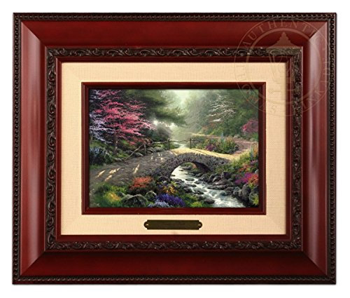 Thomas Kinkade Bridge of Faith Brushwork (Brandy Frame)