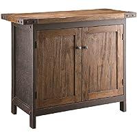 Crestview Collection CVFZR323 Wood & Metal Furniture Bridge Console Table
