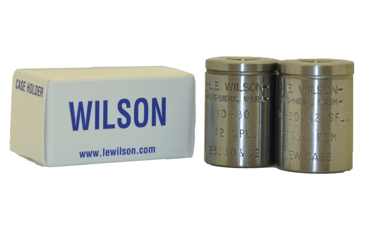 L.E. Wilson BCH-3030 Case Holder for 30-30/32 Winchester Special/38-55 Trimmer, Fired & New Included, Polished Steel