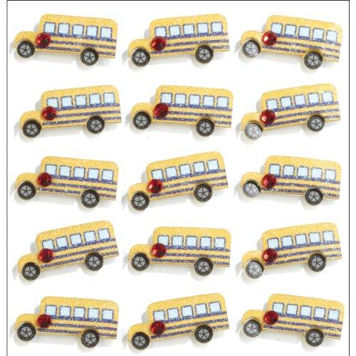 Jolee's Boutique 50-21192 Repeats Dimensional Stickers, School Bus