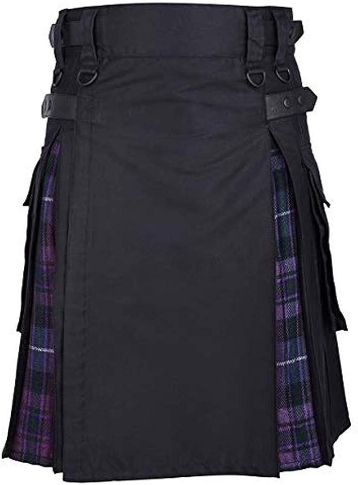 waotier Kilt Hombres Vintage Kilt Escocia Gótico Plisado Moda ...