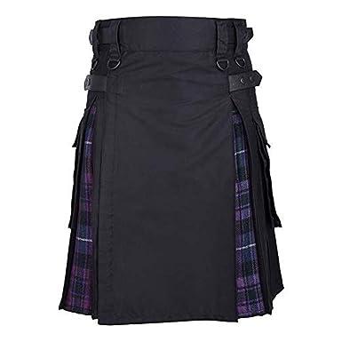 Falda Escocesa Smony, Unisex, diseño de Cuadros Escoceses, Estilo ...