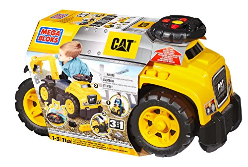 517Q3Mv7nHL - Mega Bloks Ride On Caterpillar with Excavator