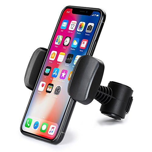 Car Headrest Mount Holder, TIQUS Adjustable Backseat Stand Bracket Stand for iPhone X/ 8/ 7/ 6/ 6S Plus Samsung Galaxy S8/ S7/ S6/ S5/ Note 8/ 5 LG G6/ G5/ V30/ V20 and More (Black)