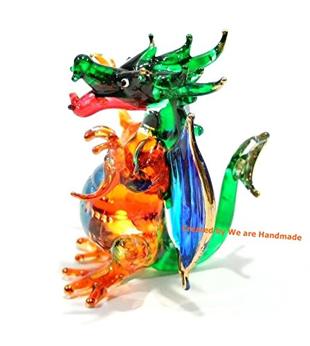 Handmade Mini Dragon Art Glass Blown Fairy Tale Animal Glass Figurine – Model Y2016