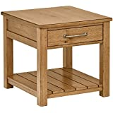 Stone & Beam Parson End Table, 26 L, Oak