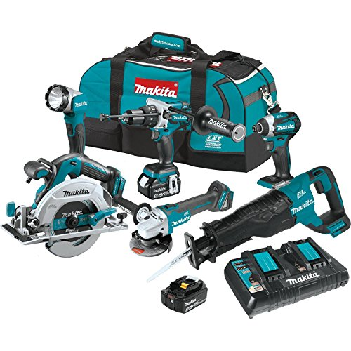 Makita 18V LXT Li-Ion Brushless Cordless 6pc. Combo Kit XT61