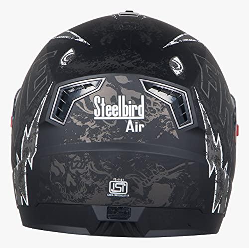 Steelbird SBA-1 Free Live Matt Black with Grey with Plain visor,580mm