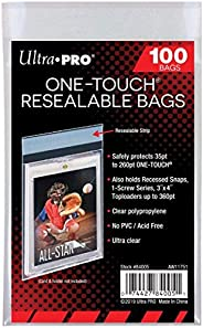 Ultra Pro One Touch Resealable Poly Bags Sleeves for Card Holder (100 Sleeves per Pack)
