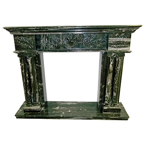 Black and White Polished Marble Fireplace Surround FPS-14