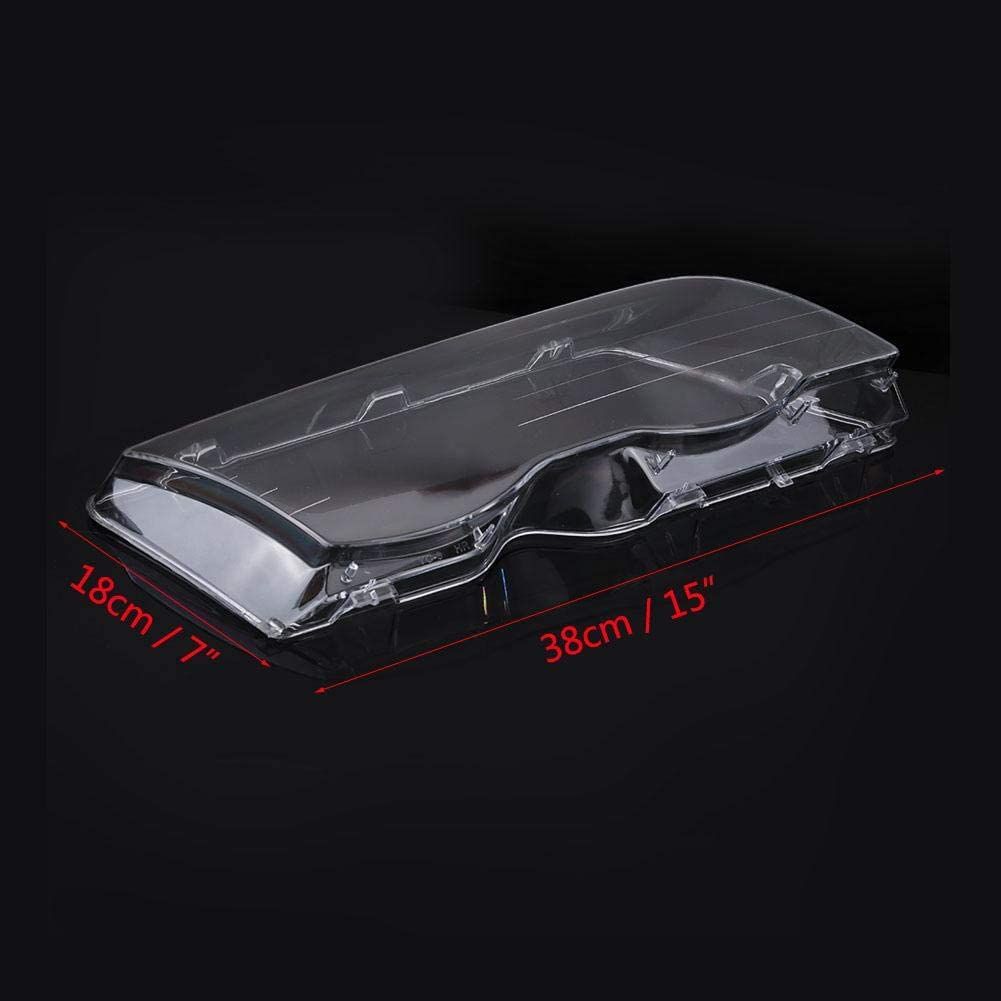 Terisass 1 Pair Headlight Lens Cover Plastic Left /& Right Headlight Cover for Car E46 320i//325i//325xi//330i//330xi 1998 1999 2000 2001 4 Doors