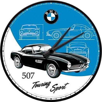 Nostalgic-Art 51081 – BMW Classics 507 Reloj de Pared, 31 cm de diámetro