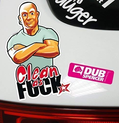 Dub Spencer Clean As Fuck Sticker Bombardata Bomb Static Low Jdm OEM Dub Tuning Style Adesivo
