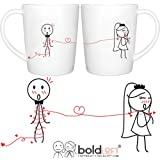 BOLDLOFT Tie the Knot His and Hers Bride and Groom Coffee Mugs|Wedding Gifts for Couple|Bridal Shower Gifts|Bride To Be Gifts|Engagement Gifts for Couple|Wedding Shower Gifts for Bride|Newlywed Gifts
