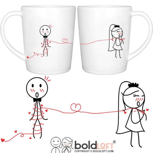 BOLDLOFT-Tie-the-Knot-His-Hers-Wedding-Coffee-Mugs-Wedding-Gifts-for-the-CoupleWedding-Gifts-for-Bride-and-GroomEngagement-Gifts-for-Couples-for-Him-for-HerBridal-Shower-Gifts